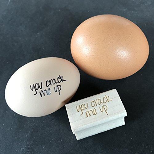You Crack Me Up Egg Stamp, Egg Stamp, Wood Stamp, Rubber ...