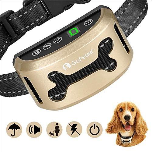 Collar Antiladridos Recargable para Perros Pequeños Medianos y Grandes Collar Adiestramiento Recargable para Perros Sonidos y Vibraciones Audibles Chip Avanzado de 7 Niveles de Sensibilidad Ajustables
