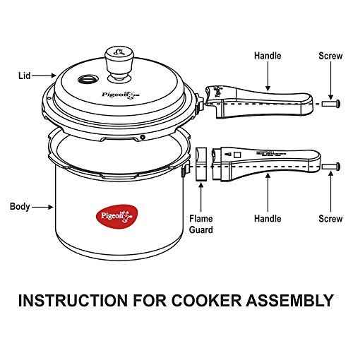 Pigeon-by-Stovekraft-12735-Non-Induction-Base-Outer-Lid-Aluminium-Pressure-Cooker-Combo-With-Lid-2L-3L-5L-Silver