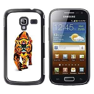 TECHCASE**Cubierta de la caja de protección la piel dura para el ** Samsung Galaxy Ace 2 I8160 Ace II X S7560M ** Polygon Triangle Colorful Puma Cougar Lion Cat