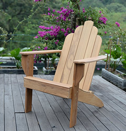 Cambridge-Casual AMZ-240275T Arie Teak Adirondack Adirondak Chair, Natural Review