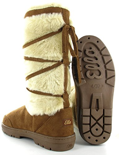9b67e50b213a NEW TALL FULLY FUR LINED WINTER SNOW BOOTS ELLA SHOES KITTY  Amazon.co.uk   Shoes   Bags