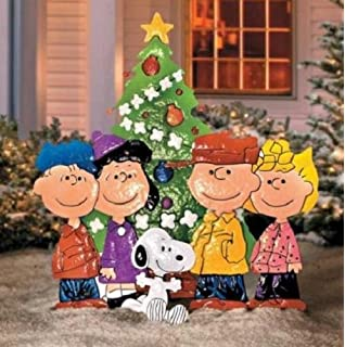 Amazon.com : Product Works 42-Inch Peanuts Metal Charlie Brown with ...