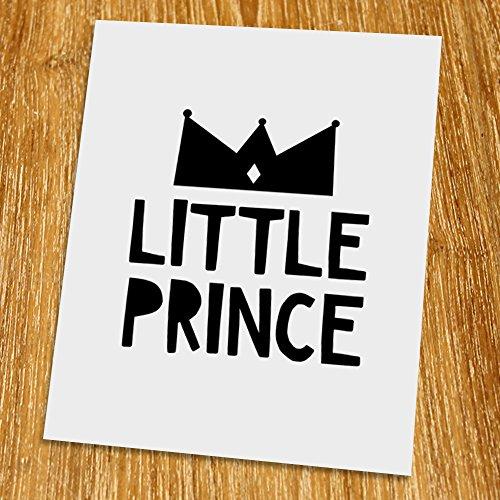 Little Prince Print (Unframed), Nursery Wall Art, Scandinavian, Modern, Playroom Decor, Black and White, 8x10