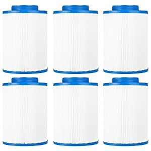 "Clear Choice CCP126 Pool Spa Replacement Cartridge Filter for LA Spa Filter Media, 5-3/8"" Dia x 7"" Long, [6-Pack]"