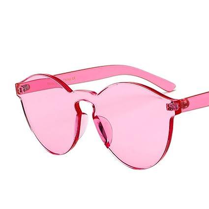 BiuTeFang Gafas de Sol Mujer Hombre Polarizadas fronteras Transparentes Color Caramelo de Moda Gafas de Sol