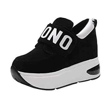Mujer zapatos Fondo extra alto,Sonnena ❤ Zapatillas deportivas ocasionales de malla al aire libre para mujer Zapatos con fondo de aumento de suela gruesa ...