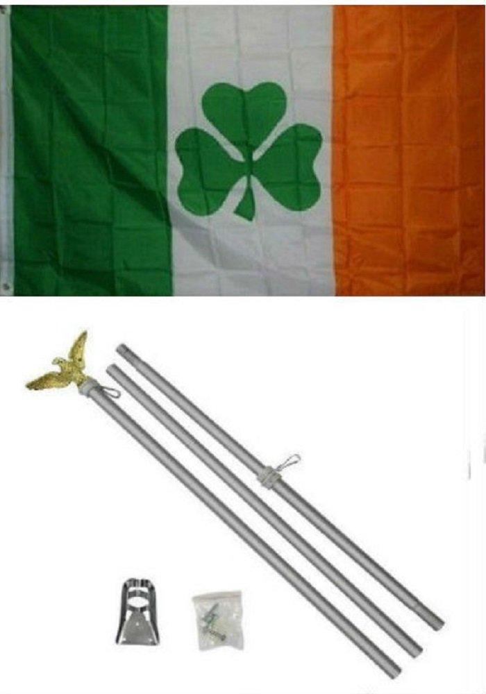 最も優遇の 2 x 3 B01NCQMNLC 2 3 ' x3 'シャムロックアイルランド国旗アルミニウムポールキット x3 B01NCQMNLC, 内祝いお返しギフトのプレナコレ:6db5a8e7 --- adornedu.com