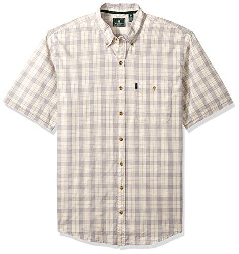 G.H. Bass & Co. Mens Big and Tall Short Sleeve Madawaska Plaid Trail Shirt