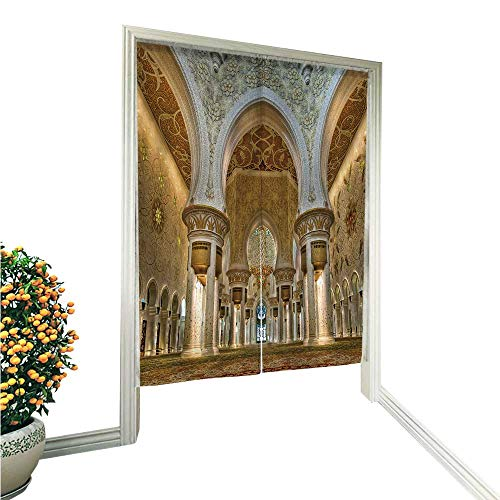 Shiekh Girl - Auraisehome Doorway Curtain Noreninterior of shiekh zayed Mosque abudhabi for Home Decoration 33.5