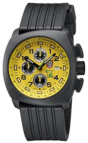 Luminox Land Tony Kanaan Chronograph Yellow Dial Rubber Strap Men's Watch 1105.S
