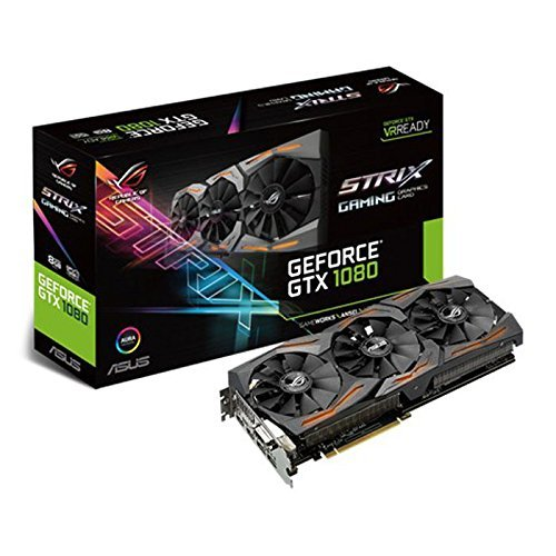 Asus ROG STRIX GTX1080 8G GAMING Carte graphique Nvidia GeForce GTX 1080 1771 MHz 8GB GDDR5X 256 bit DirectCU III