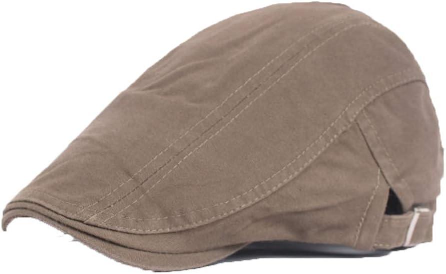 Mens Newsboy Cap Cotton Beret Hat Cabbie Flat Cap Thin Hat