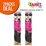 MULTI-PACK DEALS! Janet Unprocessed Brazilian Virgin Remy Human Hair Weave Bombshell Natural Weave