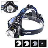WALLER PAA 5000 Lm CREE XM-L XML T6 LED Headlamp Headlight flashlight head light lamp 18650