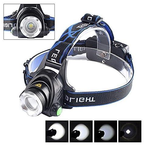 WALLER PAA 5000 Lm CREE XM-L XML T6 LED Headlamp Headlight flashlight head light lamp 18650 - Motorcycles Neon Clock