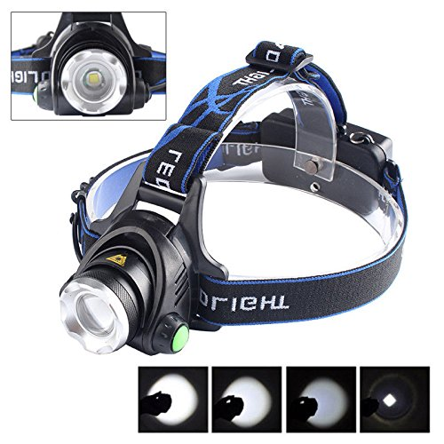 WALLER PAA 5000 Lm CREE XM-L XML T6 LED Headlamp Headlight flashlight head light lamp 18650 - Diamond Tiffany Single Light