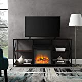 60in tv stand with fireplace - WE Furniture AZ60FPXFJDW Fireplace Stand, 60