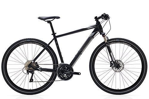 Polygon Bikes, Heist 5, Black, Hybrid Bike, 30 Speed