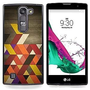 """Colores retros"""" - Metal de aluminio y de plástico duro Caja del teléfono - Negro - LG Magna / G4C / H525N H522Y H520N H502F H500F (G4 MINI,NOT FOR LG G4)"""