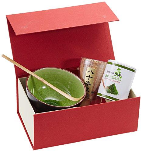 MatchaMagic Set BIO Gourmet Quality mit Schale, Besen und Löffel, 1er Pack (1 x 360 g)