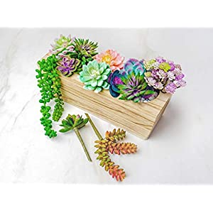 12 Fake Succulent Plants Realistic- Artificial Succulent Plants- Large Faux Succulents Unpotted- Hanging Floral Succulent Cuttings Arrangement- Outdoor And Indoor- Wall Decor -Easy DIY With Stems 10