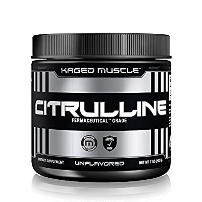 KAGED MUSCLE – L-Citrulline Unflavored Powder – 100 Servings – Enhanced Muscle Pump & Performance Nitric Oxide Booster – Increase Muscle Vascularity