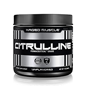 KAGED MUSCLE, Premium L Citrulline Powder, Enhance Muscle Pump, Improve Muscle Vascularity, Nitric Oxide Booster, Citrulline, Unflavored, 100 Servings