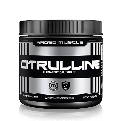 Kaged Muscle Premium Nitric Oxide Supplement: Pure L-Citrulline, Increases Blood Flow, Intense Pump, Unflavored Powder, 200g