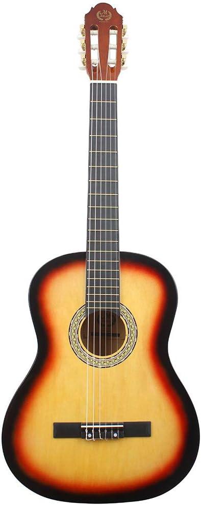 Guitarra de Madera clásica de 60 cm, Mate, Redondeado y Completo de Tilo