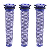 isinlive 3 Pack Pre Filter Compatible Dyson DC58, DC59, V6, V7, V8 Replaces Part # 965661-01, 3 Filters