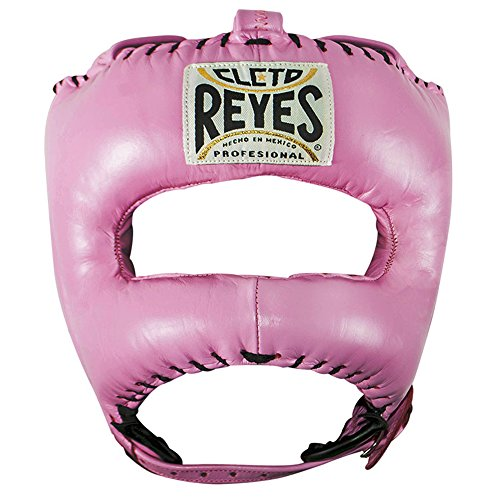 Headgear Gloves Boxing (Cleto Reyes Traditional Headgear with Pointed Nylon Face Bar (Pink))
