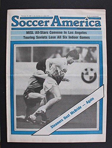 SOCCER AMERICA MISL ALL STARS CONVENE IN LOS ANGELES MCBRIDE FEB 19 1987 RARE1