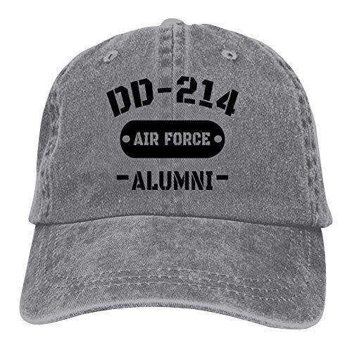 MADODC DD-214 Alumni Air-Force Veterans Baseball Cap Adjustable Denim Trucker Cap Jeans Caps