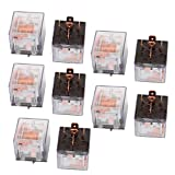 uxcell DC 24V 100A 5 Pins SPDT Clear Shell Green Light Car Automotive Alarm Relay 10pcs