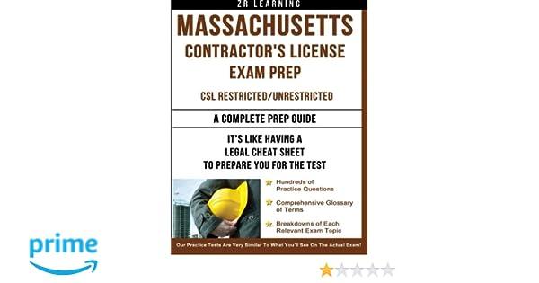 Massachusetts Contractor's License Exam Prep: ZR Learning