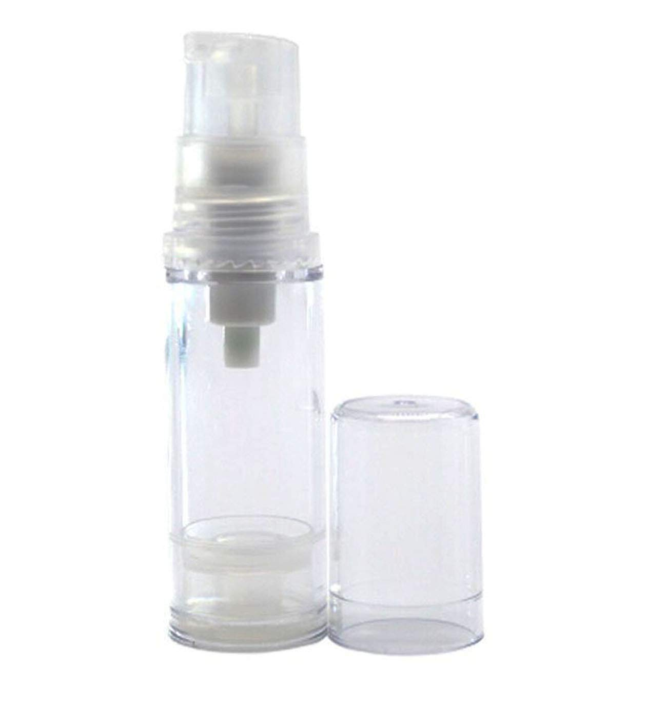 TOPWEL 5ml Empty Clear Refillable Airless Vacuum Pump Cream Lotion Bottle (10PCS)