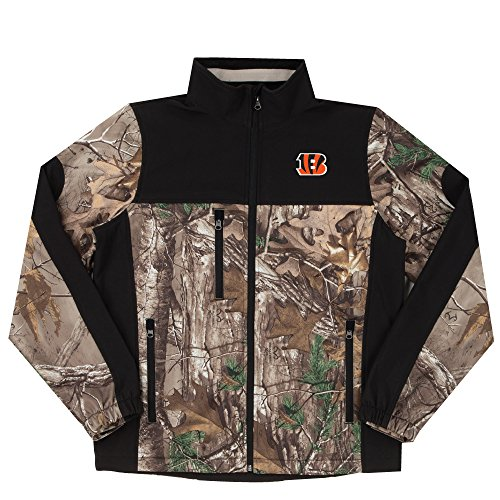 NFL Cincinnati Bengals Hunter Colorblocked Softshell Jacket, Real Tree Camouflage, 3X