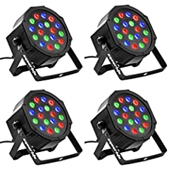 Eyourlife 4pcs 18X3W LED Par Light 54W RGB PAR 64 DMX512 Stage Lighting Features:  1. Made of engineering plastic shell, light weight, durable;  2. good heat dissipation,High-speed chip design;  3. connect 512 signal controller, can pull up n...