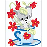 RTO Mouse in Cup Collection D'Art Stamped Needlepoint Kit