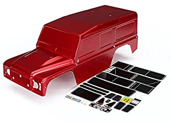 Traxxas Automobile 8011R 1/10 Scale Land Rover Defender Body, Red