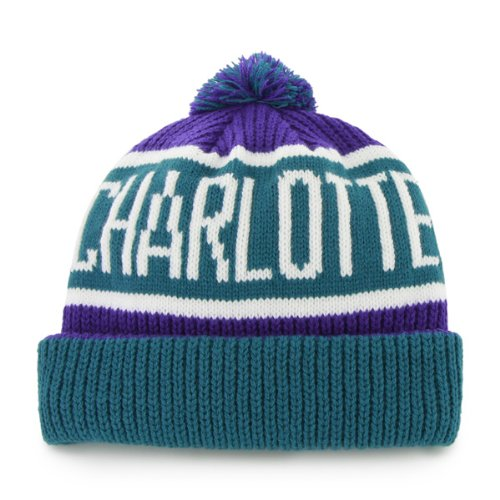 02dcf5be7c3 Amazon.com    47 Charlotte Hornets Vintage Calgary Beanie Hat with Pom - NBA  New Orleans Cuffed Winter Knit Toque Cap   Sports Fan Novelty Headwear    Sports ...