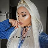 Heahair Fashion Color Blonde Straight Handited Syntheyic Lace Front Wig for Halloween