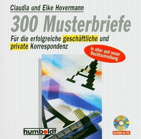 300 Musterbriefe Deutsch Uk Import Claudia Eike Hovermann