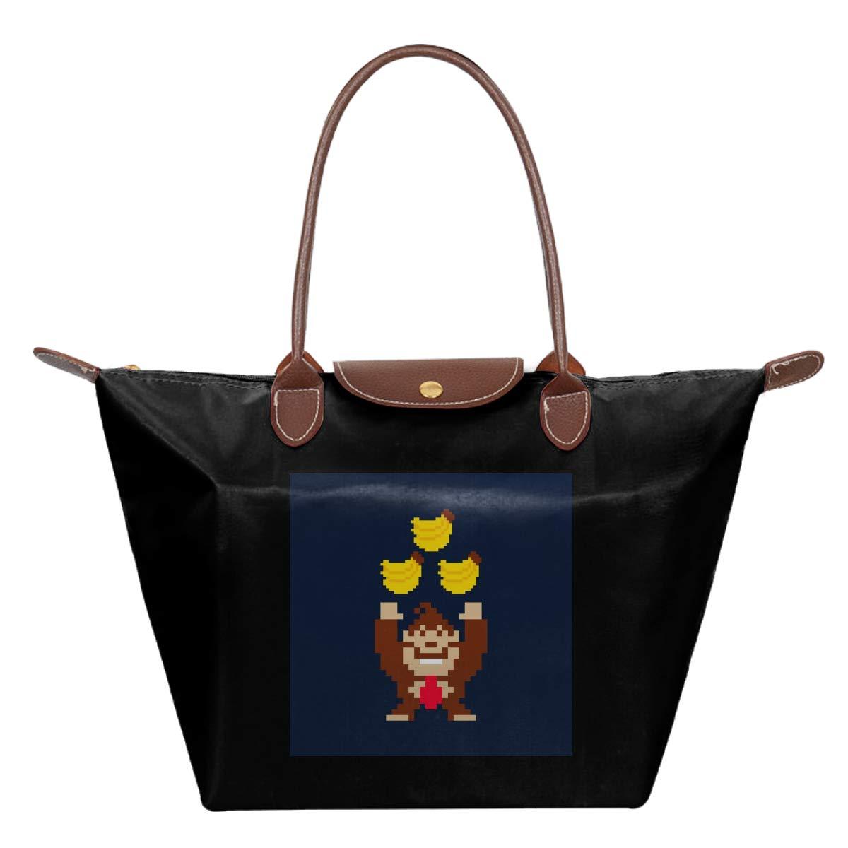Donkey Kong Tribananas Waterproof Leather Folded Messenger Nylon Bag Travel Tote Hopping Folding School Handbags