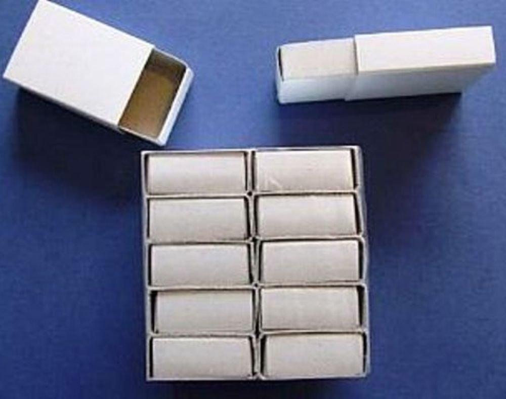 12 Plain White Empty Matchboxes for Crafts | Papier Mache Shapes Crafty Capers