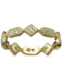 SHASHI Jasmine Band Cubic Zirconia Ring
