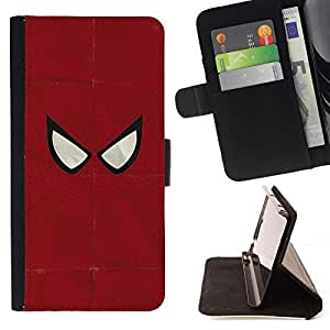 DEVIL CASE - FOR Sony Xperia Z1 L39 - Spider Superhero Minimalist - Style PU Leather Case Wallet Flip Stand Flap Closure Cover