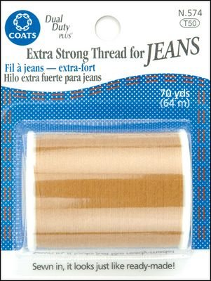 Bulk Buy 6-Pack Coats /& Clark Extra Strong Thread For Jeans 70 Yards Golden N574