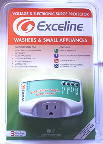 Electronic Surge Protector for Front and Top Load Washers, Gas Dryers, LED, LCD and Plasma Tv's by Exceline